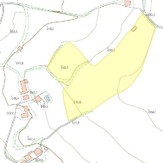 mapa topogràfic de la finca